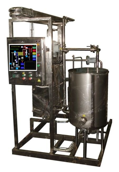 Buy Pasteurization-cooling unit of wine, beer, kvass, mead 1-25t/h