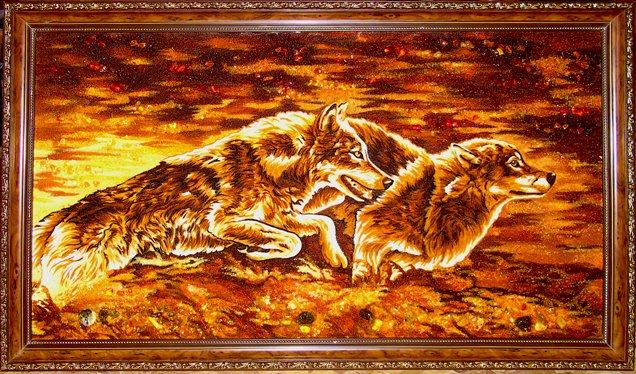 Купить картину из янтаря на заказ