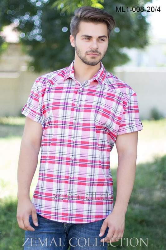 Рубашка мужская ML1-008 с коротким рукавом