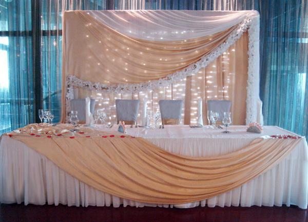 И организация свадьбы украшение