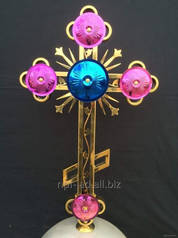 Православные накупольные кресты с покрытием под золото