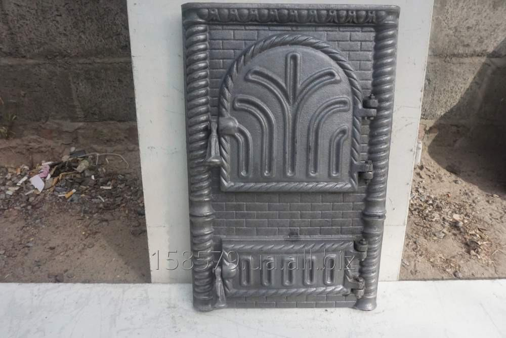 "Дверца печная спарка(АР)(Рум) ""Крепость"" квадрат арка"