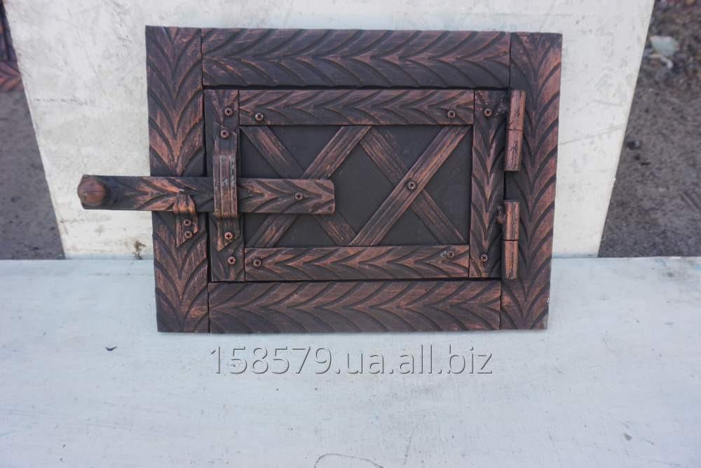Дверца поддув. метал+ковка (елка)+топочная (КОМПЛЕКТ)