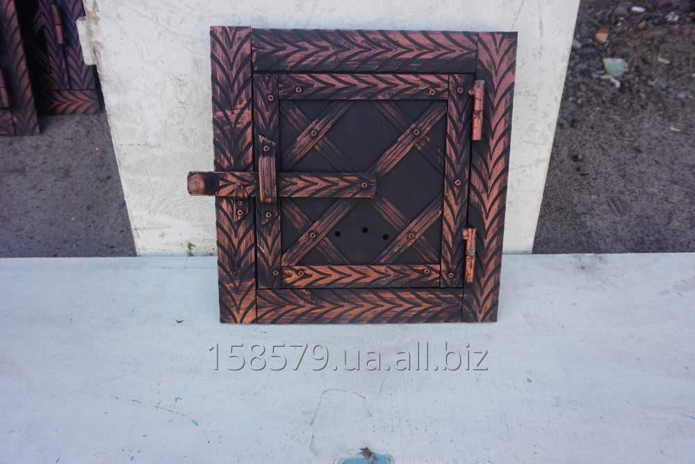 Дверца метал+ковка топочн.(елка)