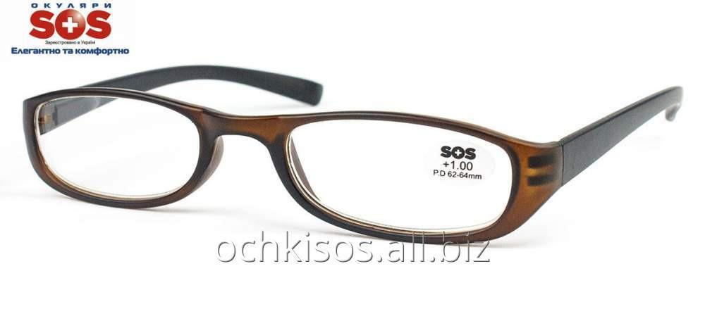 Очки для чтения SOS женские модель P 13074 Mat Brown- Black