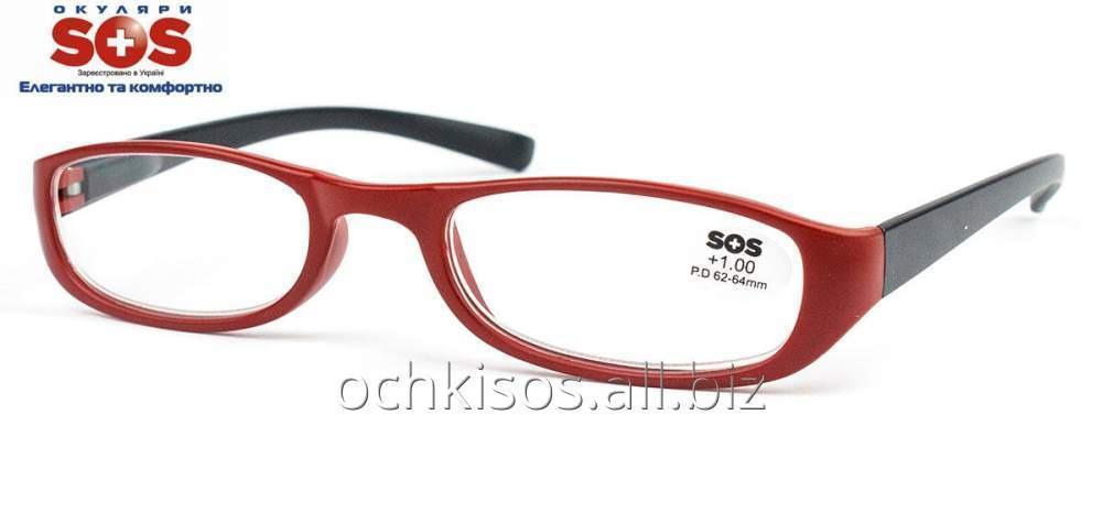Очки для чтения SOS женские модель P 13074 Mat Red- Black