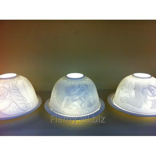 Фарфоровый светильник под чайную или электронную свечу