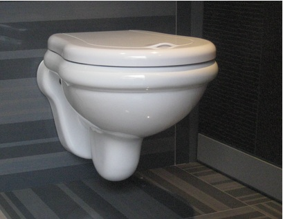 Buy Toilet bowl of suspended Kerasan Retro 1015 complete with a seat on gold hinges