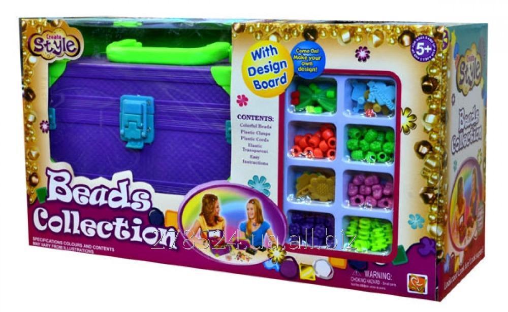 Купить Детский набор для плетения из бисера со шкатулкой для украшений IE411