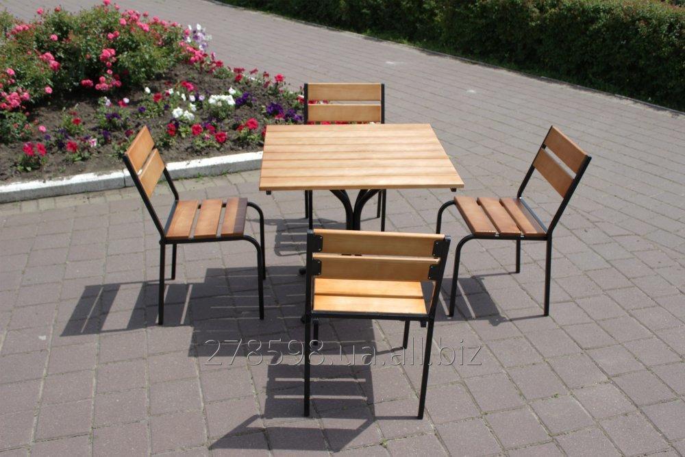 Комплект мебели Классический KIT-Classic-BL черный металл, светлое дерево