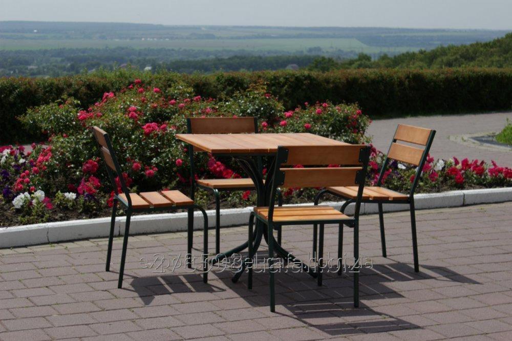 Комплект мебели Классический KIT-Classic-GL зеленый металл, светлое дерево
