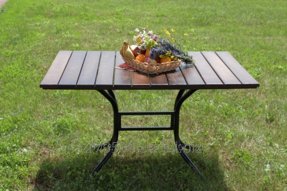 Стол Премиум T-Premium-BD черный металл, темное дерево