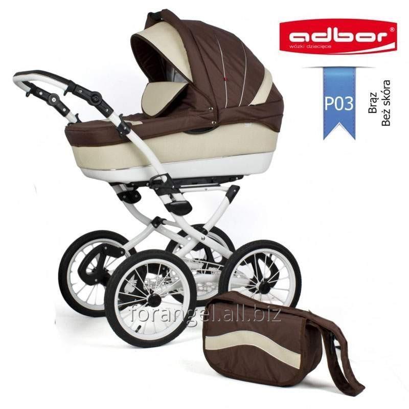 Купить Детская коляска 3 в 1 Adbor Marsel PerFor Classic P03, Артикул 1103-0015