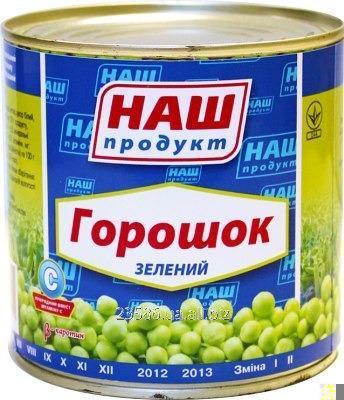 Купить Горошек консервиваный зелёный, 425г