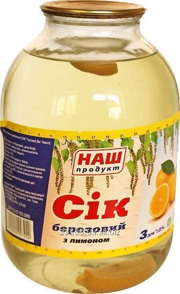 Купить Сок березовый с лимоном, код: 0406004