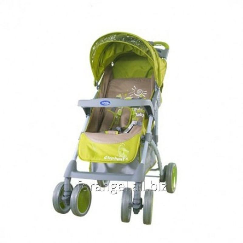 Купить Детская прогулочная коляска Bambini King Green Elephant, Артикул101-412