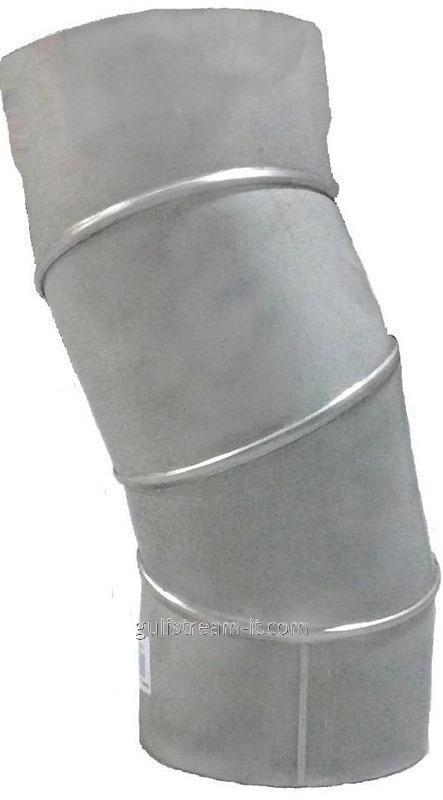 Коліно нерж. ф180  0-90 (поворотное)