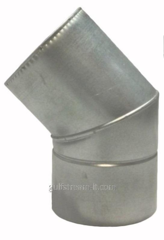 Коліно  ф180/250  45 нерж/оцинковка 0,8мм