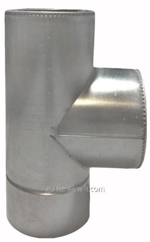 Трійник  ф150/220  87 нерж/оцинковка 0,8мм
