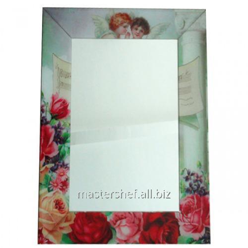 Купить Зеркало с рамкой Ангелы 80х60х4,5 см, код: 740-001