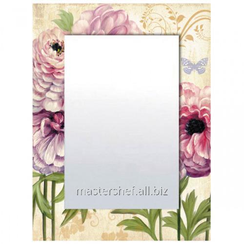Купить Зеркало с рамкой Цветы 80х60х4,5 см 740-003
