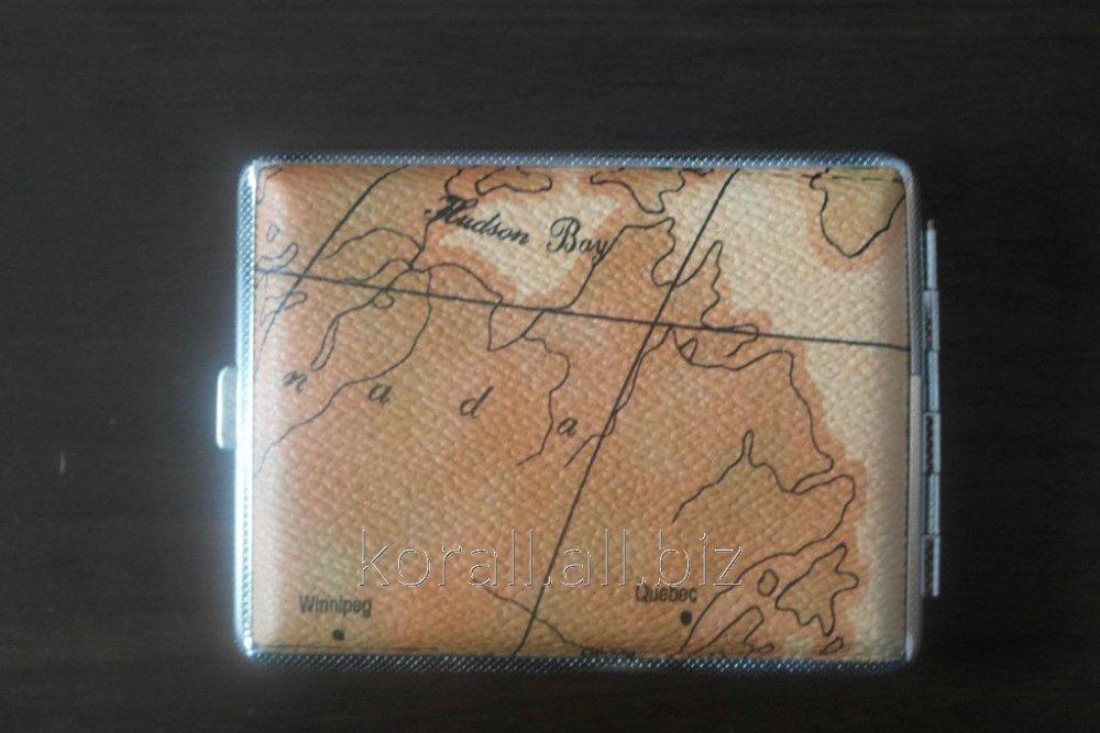 Портсигар карта мира