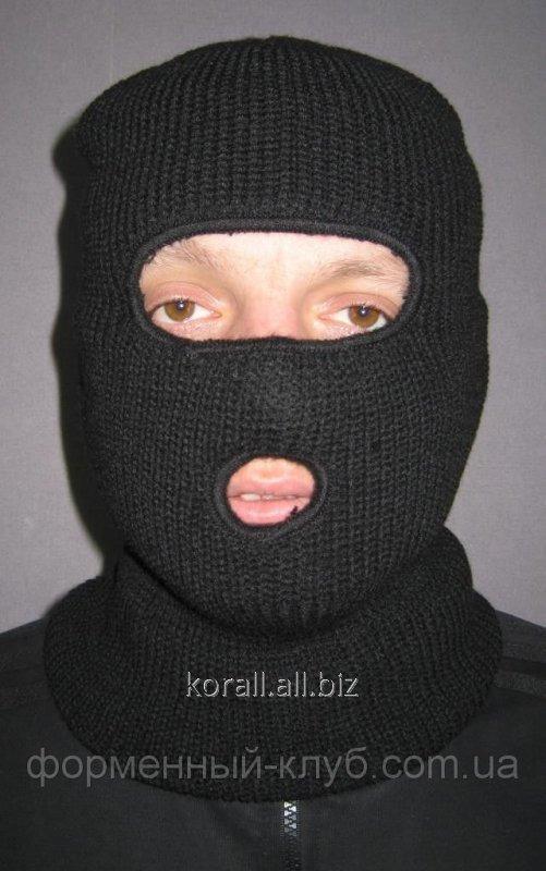 Шапка маска на 2 прорези