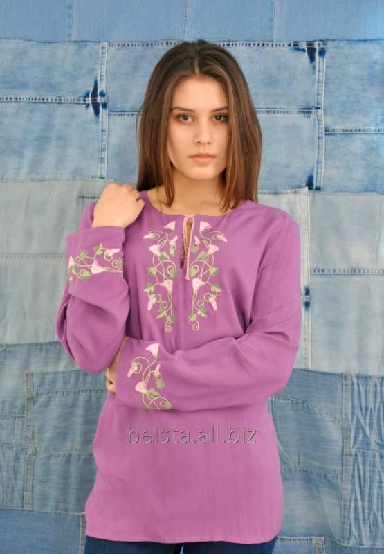 Női hímzett ing a rózsaszín vászon