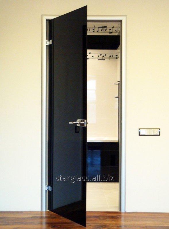 Двери из стекла графит