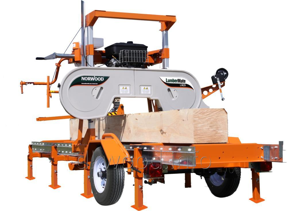 Log Loading Rolling And R System Installed On Lumbermate 2000 Portable Sawmill