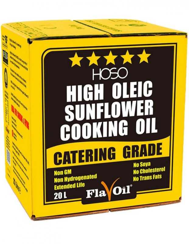 Фритюрное масло High Oleic Sunflower Cooking Oil  Volume: 15L (20L)  Type of packaging: bag-in-box
