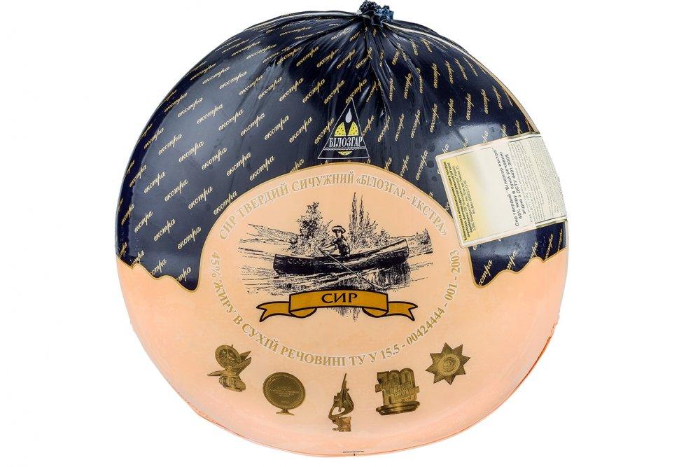 El queso De Bilozgar-ekstra 45 % de la grasa