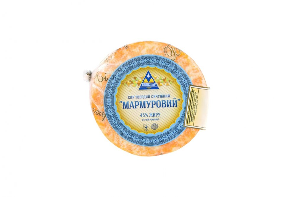 Сыр твердый сычужный Мраморный 45% жира