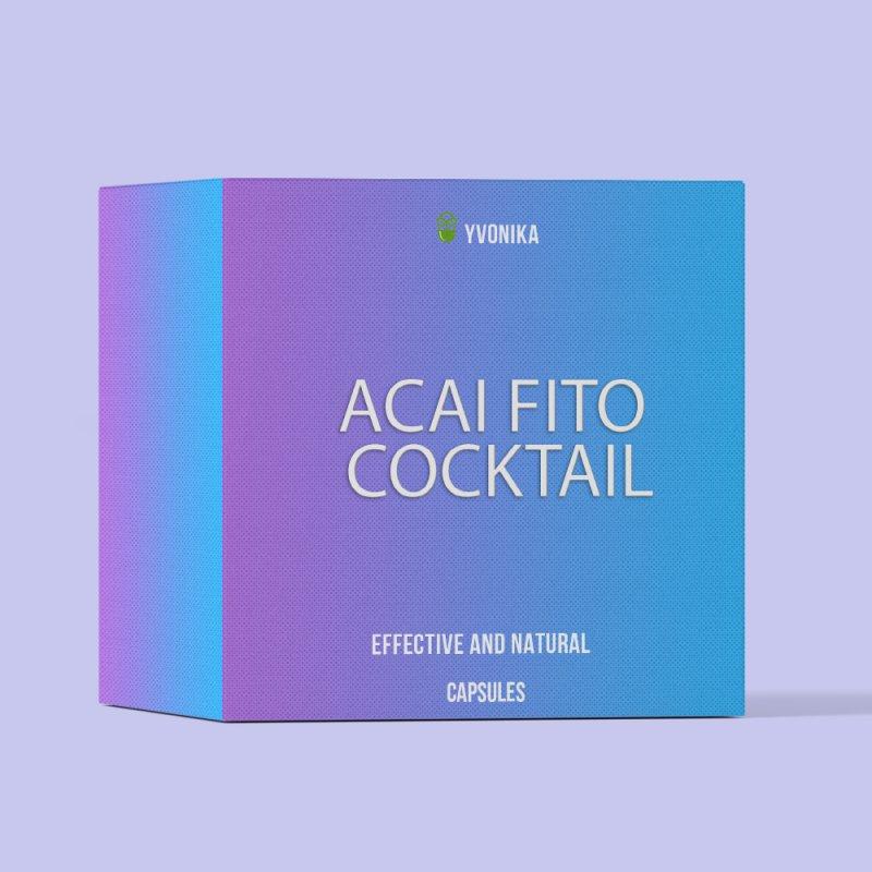 Капсулы для похудения Acai Fito Cocktail асаи фито коктейль