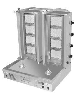 Купить Шаурма-гриль с двумя вертелами газовая/электро Pimak PCD-001