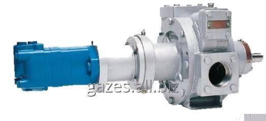 Насос Corken Z2000 с адаптером и гидравлическим приводом гидромотором Danfoss OMR80 для газовозов, СУГ, пропана, бутана, сжиженого газа, налива АГЗС, газовых модулей