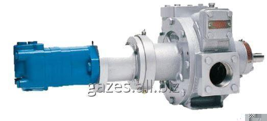 The pump Corken Z2000 with the adapter and the hydraulic Danfoss OMR80 drive for gas carriers, SUG, propane, butane, the liquefied gas, filling AGZS, gas modules