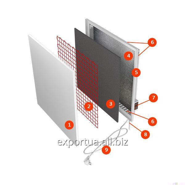 Обогреватель электрический настенный, потребляет до 200 Вт