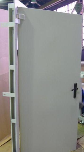 Ворота, Двери утеплённые одностворчатые и двухстворчатые