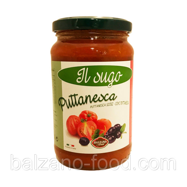 Купить Balzano Sugo alla puttanesca - Соус c оливками и каперсами (370g)