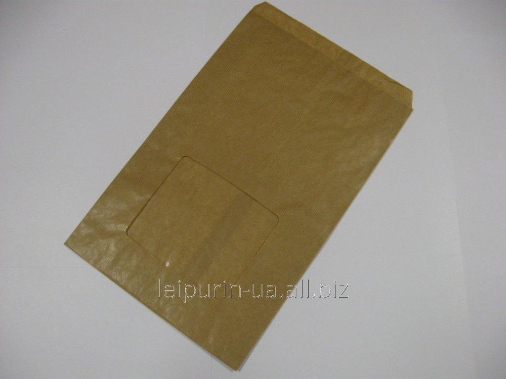 Пакет однотонный бумажный 3