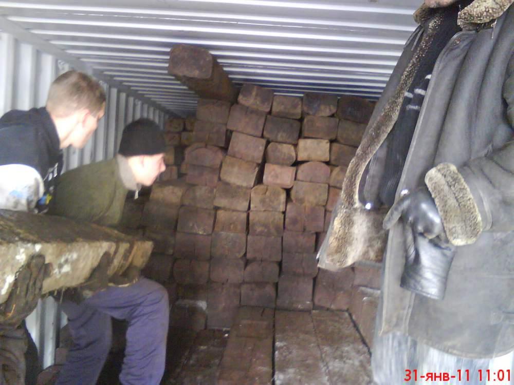 Шпалы деревянные