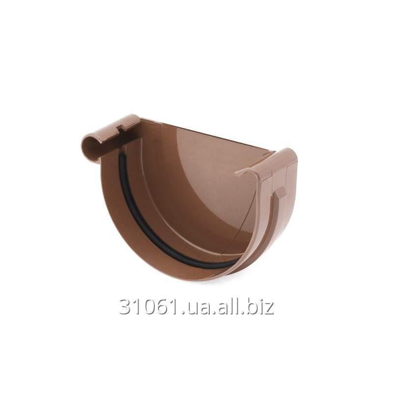 Купить Заглушка желоба правая/левая Bryza 100 коричневый