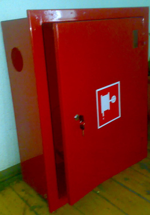 Fire cabinet recessed metal
