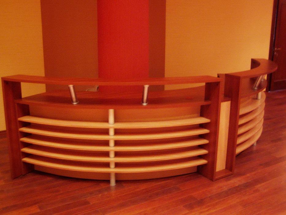 Ресепшн радиусный комбинированый, стол секретаря офис купить.