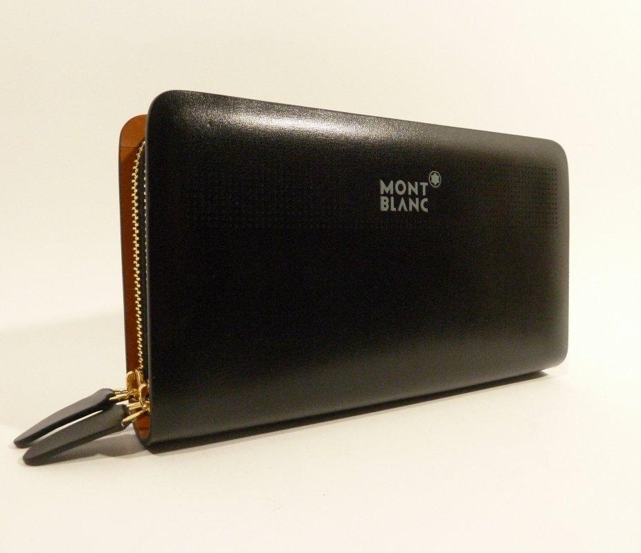 Купить Клатч кожаный мужской MontBlanc 8106-4 черный