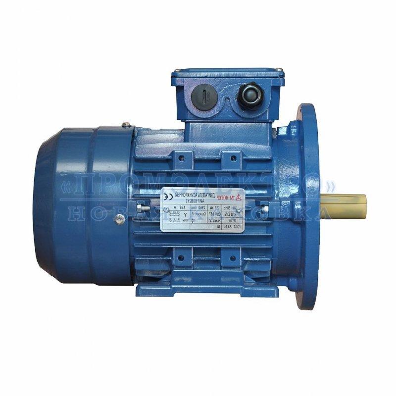 Купить Электродвигатель АИР80B2 - 2,2кВт 3000 об/мин Лапа+фланец