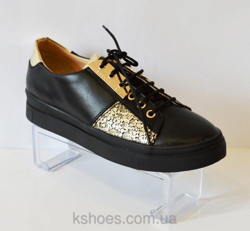 Купить Туфли золотистые на шнурке Favi 009