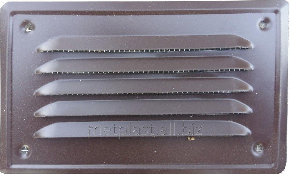 Buy Metal ventilating grate with a mosquito grid 17kh10sm.