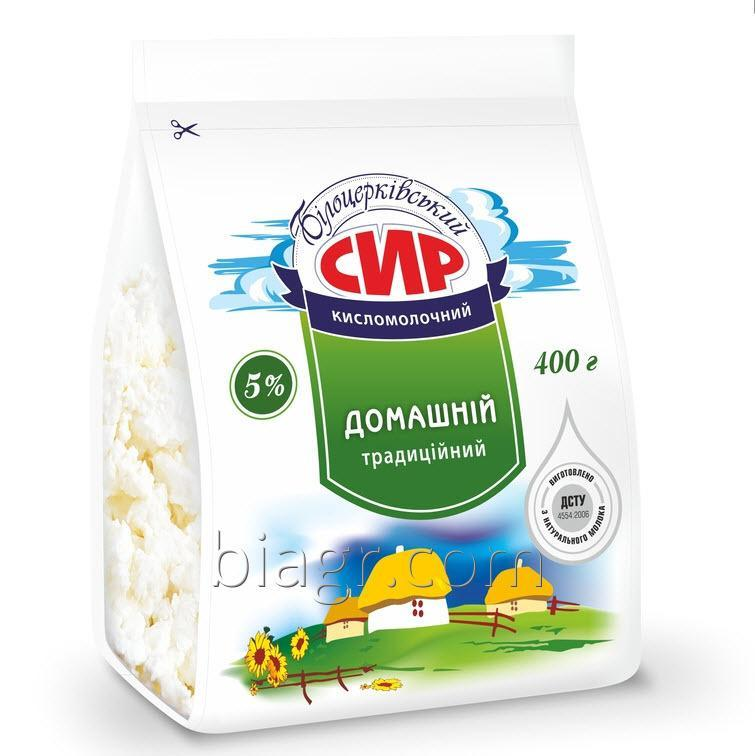 Curd cheese 5% fat, 400 g, packet